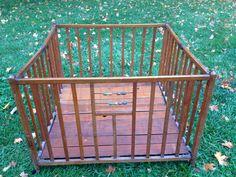 Vintage Wood Playpen • vintage Portable Crib • vintage porta crib by PrairieTreasure on Etsy https://www.etsy.com/listing/207426889/vintage-wood-playpen-vintage-portable