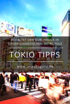 Sich nicht zu verirren ist in der gigantischen Metropole Tokio gar nicht so einfach, aber mit diesen Tipps erhaltet ihr einen hilfreichen ersten Überblick.