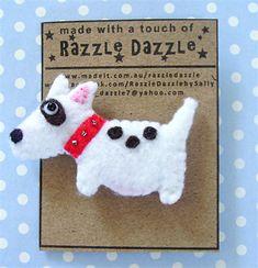 Bull Terrier - Felt Dog Brooch | Razzle Dazzle Creations | madeit.com.au