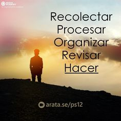 http://arata.se/ps12  Recolectar Procesar Organizar Revisar Hacer.  __________________________________________________________________________ #ArataAcademy #ArataAcademySPANISH #Autodesarrollo #edtech #elearning #instadaily #Maestría #PhotoOfTheDay #PicOfTheDay #Productividad #SeiitiArata #consejos #vida #dia #organizar