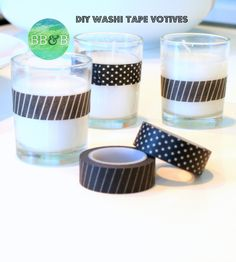 DIY Washi Tape Votives are perfect to place on your windowsill, mantel, or anywhere you want a little holiday sparkle brightboldbeautiful.com
