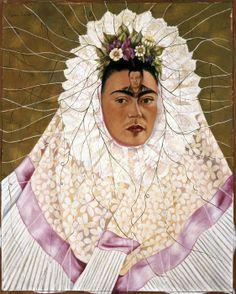 Frida Kahlo. Autoritratto come Tehuana, (o Diego nei miei pensieri), 1943. Olio su tela, cm 76 x 61. The Jacques and Natasha Gelman Collecti...