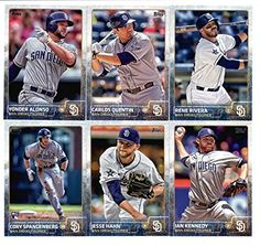 2015 Topps Baseball Cards San Diego Padres Team Set (Series 1- 13 Cards) Including Rene Rivera, Carlos Quentin, Ian Kennedy, Yonder Alonso,…