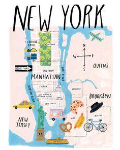 For the Elle Japon September issue NY guide, AD: Yusuke Takamura (fairground) Agent: BUILDING