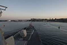 PLYMOUTH, England (July 31, 2015) The guided-missile destroyer USS Jason Dunham (DDG 109) pulls into port in Plymouth, England. Jason Dunham is conducting naval operations in the U.S. 6th Fleet area of operations in support of U.S. national security interests in Europe. (U.S. Navy photo by Mass Communication Specialist 3rd Class Weston Jones/Released)