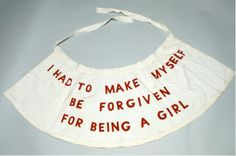 Louise Bourgeois, garment from the performance 'She Lost It', 1992