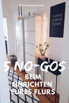 5 No-Gos beim Einrichten des Flurs There is either yawning emptiness or chaos in the hallway, and the vestibule can be a real feel-good zone with the right interior tricks. What you should pay attention to, you can now read on style-magazin. Diy Interior, Interior Design Living Room, Vestibule, Home Crafts, Diy Home Decor, Flur Design, Interiores Design, Room Decor Bedroom, Style Magazin