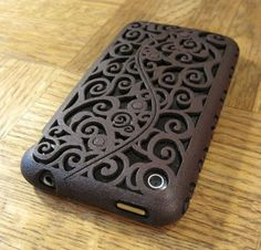 Designer iPhone 3G / 3Gs Victorian Filigree Swirl Case (in 3D printed Nylon) - 7 color options - Made to Order