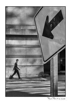 You are Here (black and white photograph)