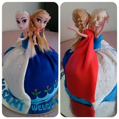 Forzen Cake for Masami #FrozenCake #FondantCake