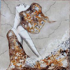 Virginie Schroeder,  Emmene-moi,  Mixed Media on Canvas  40 X 40 in. #Canadian #Art