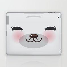 Kawaii funny gray seal Laptop & iPad Skin