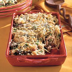 Turkey Tetrazzini   Dinner Recipes: Make-Ahead Casseroles - Southern Living Mobile