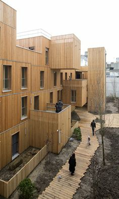 E EN L'AIR, Social Housing, Paris. KOZ Architectes