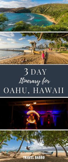 3 Day Itinerary for Oahu, Hawaii Think #Hawaii is only for a dream #vacation in the far future. Think again! With airfare dropping Hawaii is easier to reach then ever.