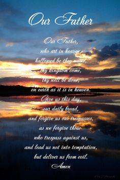 The Our Father Prayer. $24.00, via Etsy.