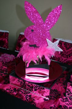 Playboy bunny bachelorette theme decor