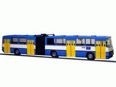 "Model kloubového autobusu IKARUS 280, provedení ""DP Ostrava"", Ep.V. Měřítko 1:87 Scale, Vehicles, Weighing Scale, Libra, Balance Sheet, Ladder, Weight Scale"