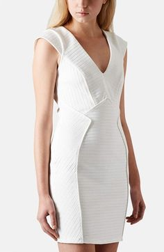 Topshop Bandage Jersey Body-Con Dress available at #Nordstrom