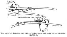 Designing medieval nut and trigger crossbow locks