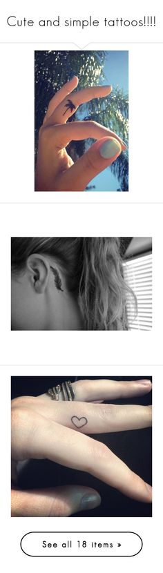 """""""Cute and simple tattoos!!!!"""" by bockadoodledo ❤ liked on Polyvore featuring tattoos, tattoos and piercings, accessories, body art, pictures, photos, tatoos, tattoos/piercings, tattos and backgrounds"""