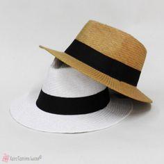 Unisex ψάθινο καπέλο σε 2 χρώματα