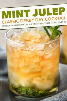 This Southern mint julep recipe is pretty close to the iconic Derby Day cocktail made with simple syrup Kentucky bourbon fresh mint and crushed ice.Cool and refreshing it's perfect on a summer day! Frozen Drink Recipes, Sangria Recipes, Drinks Alcohol Recipes, Beer Recipes, Yummy Drinks, Cocktail Recipes, Smoothie Recipes, Cooking Recipes, Fun Drinks