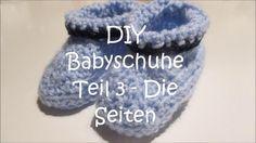 DIY Babyschuhe häkeln Teil 3 - Die Seiten