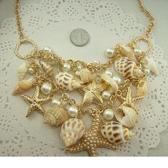 Necklace. Conch Shell Starfish Simulated pearl Necklace Fashion Sea Star Plated Multitiered Necklace & PendantDeep discounts on over 300 products that enhance your life from day to day! Items for men and women of all ages, also teenagers. Take a look at our #jewelry #handbags #outerwear #electronicaccessories #watches #umbrellas #gpspettracker  #Purses #sunglasses #Songbirddeals
