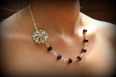 Bridesmaid GiftPurple NecklaceNecklace and by dreamdaydesign, $32.99