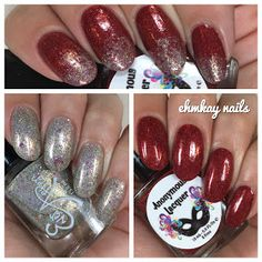 ehmkay nails: Ever After Sin City and Anonymous Lacquer Set Your Soul On Fire…
