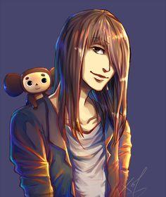 Shinya and Cheburashka, fan art