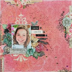 C'est Magnifique November Kit ~ Joyful Heart Mixed Media Layout by Tracey Sabella. Kits are available at http://www.cestmagnifiquekits.com/cart/ For project details, please stop by my blog post: http://gracescraps.blogspot.com/2014/10/joyful-heart-mixed-media-layout-for.html
