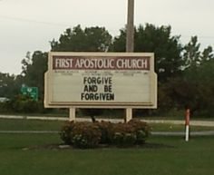 Forgive And Be Forgiven.  Dublin, OH.