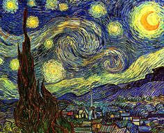 Vincent Van Gogh's Starry Night..... one of my favorites.