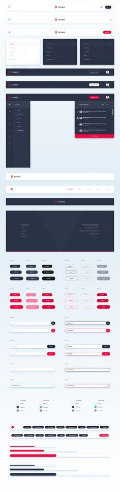 Esthetic UI Kit [PSD & Sketch] on Behance