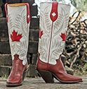 Canadian pride western cowboy boot!  Paul Bond Boot of the month September 2013