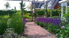 Gezinstuin met meer beleving te Alphen aan den Rijn. Tuinontwerp: De Tuinregisseurs Sidewalk, Plants, Side Walkway, Walkway, Plant, Walkways, Planets, Pavement