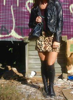 leather OTK boots