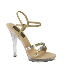 Illuminate evening looks with these arresting Austria sandals by Johnathan Kayne. Smooth faux leather upper in a platform dress sandal style with a round open toe. Dual asymmetrical Swarovski Austrian crystal vamp straps create show-stopping detail. Click to buy this and all your pageant need at ThePageantPlanet.com. FREE SHIPPING on all items.