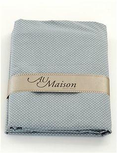 Sieht edel aus! Super süße Pünktchen Bettwäsche in graublau.
