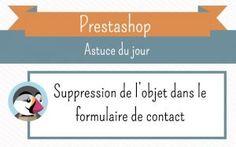 """Supprimez le champs """"objet"""" du formulaire de contact   Prestashop 1.6"""