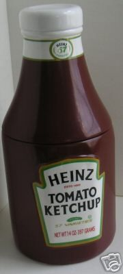 *HEINZ TOMATO KETCHUP ~ Cookie Jar.......I would love to find this one!
