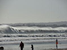 Big waves at Rio del Mar 4/1/12