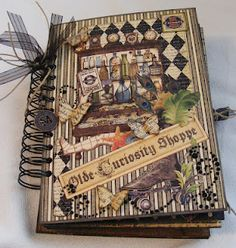 Creative Cafe': Olde Curiosity Shoppe Chipboard Mini Album