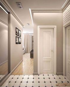 Most Popular Contemporary Living Room Design Ideas House Design, Corridor Design, Home Room Design, Contemporary Living Room Design, Blue Walls Living Room, House Interior, Room Design, Home Deco, Apartment Interior