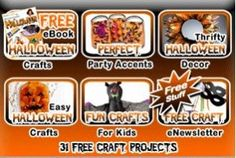 31 Free Halloween Craft Projects! on http://www.couponingfor4.net