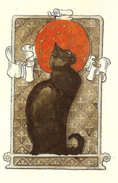Chat by Theophile Alexandre Steinlen [Swiss-born French Art Nouveau Painter and Printmaker, 1859-1923]