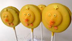Oreo Cookie Chicks on a stick!