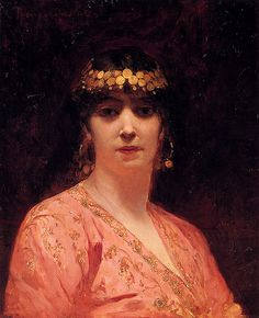 Benjamin Jean Joseph Constant - Portrait Of An Arab Woman♥
